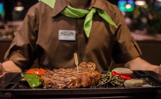 """Ресторан Посадоффест - фотография 8 - Фирменный стейк """"Ковбой"""""""