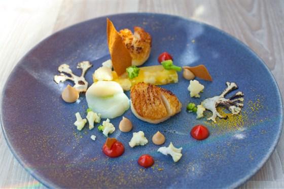 Ресторан Оранж 3 - фотография 8 - Оранж 3 (450 руб) (гребешок, цитрусы, цветная капуста)