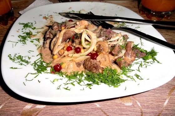 Ресторан Царская охота - фотография 4 - Оленина по таёжному))) вкусно и полезно!