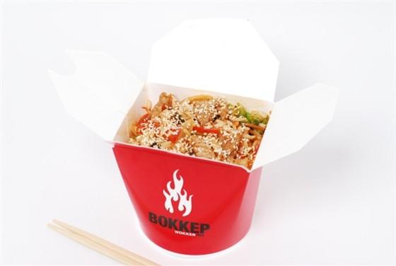 Ресторан Воккер - фотография 11 - Вок «Свинина в кисло-сладком соусе» с рисом, 400 гр.,  250,-