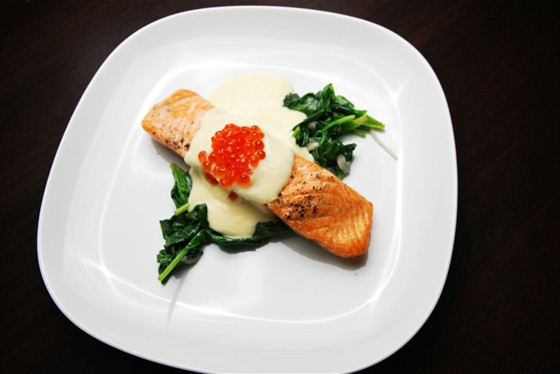 Ресторан Felice - фотография 19 - Лосось на шпинатной подушке 450 руб