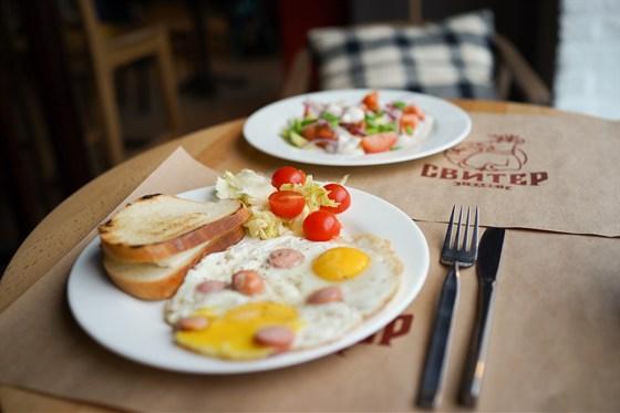 Ресторан Свитер - фотография 9 - Завтраки в кафе Свитер