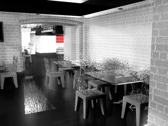 Ресторан Dyxless - фотография 9 - Основной зал