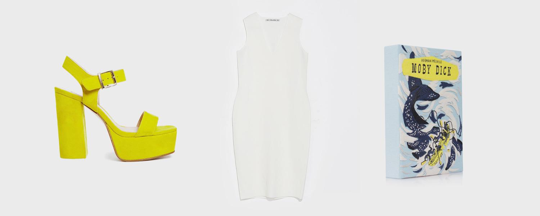 Босоножки Asos, 4105 р., платье Zara, 2999 р., клатч Olympia Le-Tan, 72 000 р.
