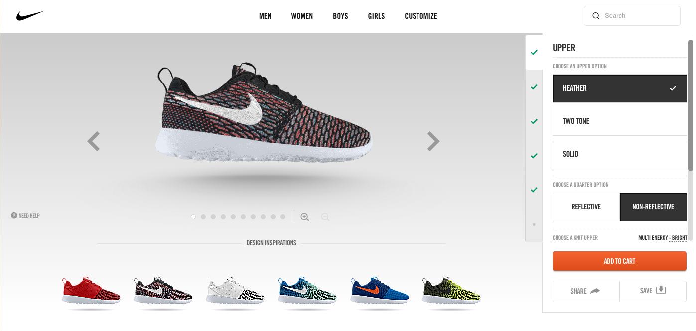 <p>Сервис Nike ID позволяет самостоятельно разработать дизайн кроссовок</p>