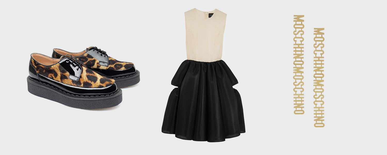 Ботинки Purified, 27 700 р., платье Simone Rocha, 45 500 р., серьги Moschino, £229