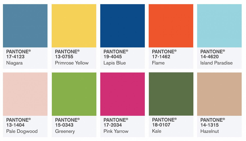 Цветовые схемы pantone