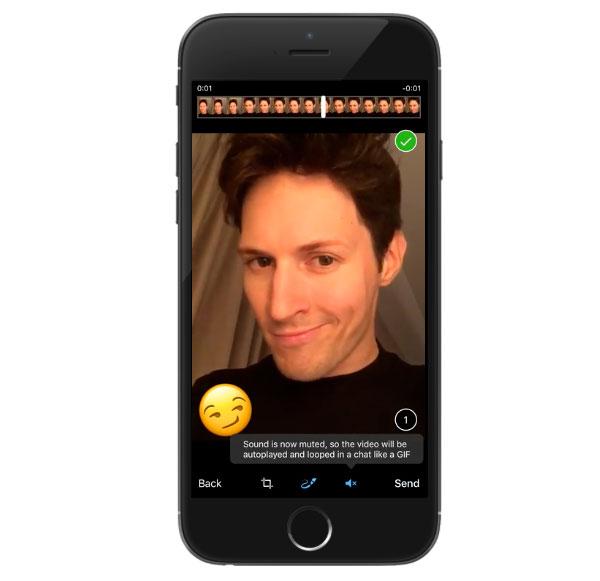 Вмессенджере Telegram возникла возможность добавлять маски нафото
