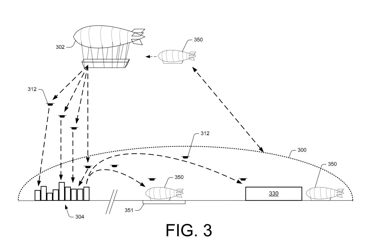 Amazon получил патент надирижабль-склад