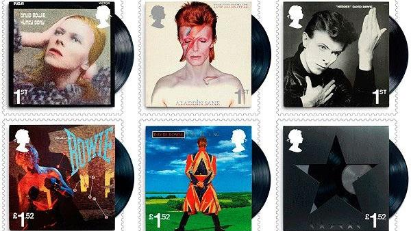 Выпустят почтовые марки собложками альбомов Дэвида Боуи