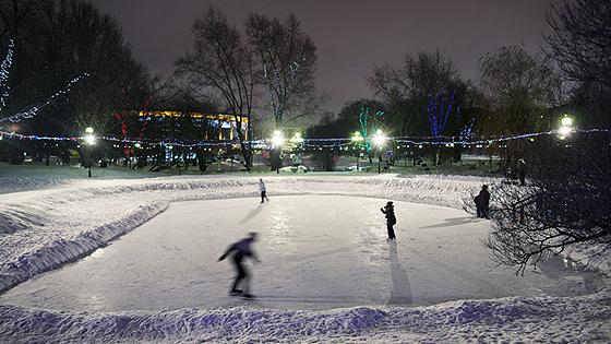 Каток в Екатерининском парке