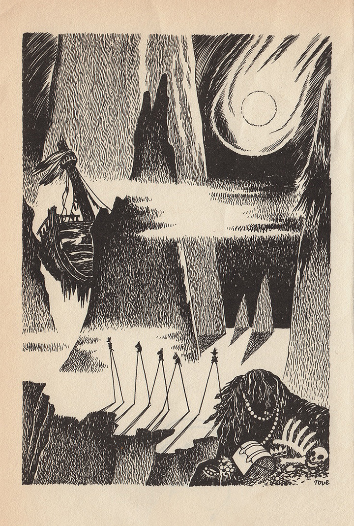 Иллюстрация из книги «Муми-тролль и комета»
