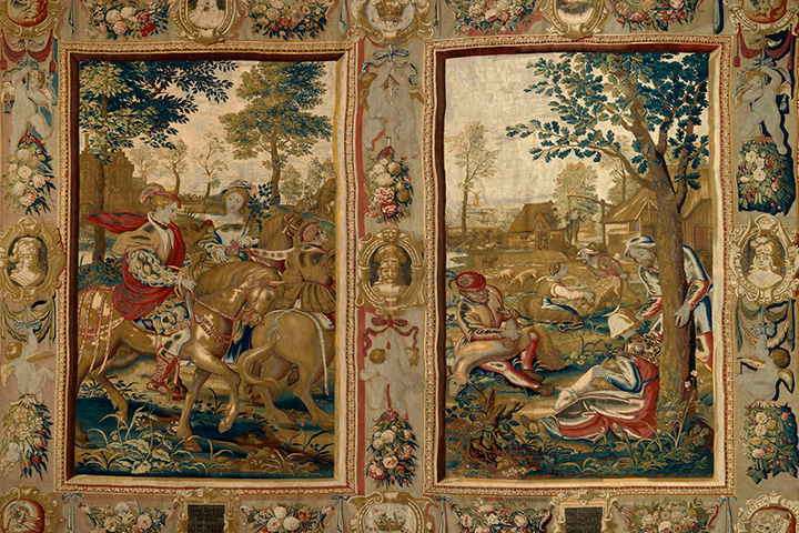 Стирка королевского гобелена XVII века