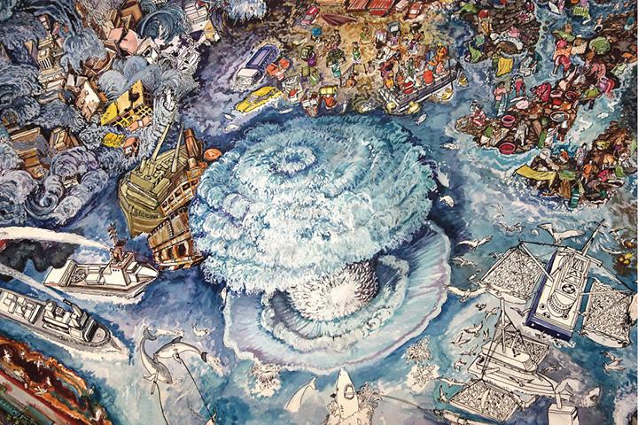 Детализированное изображение вреда, наносимого Земле