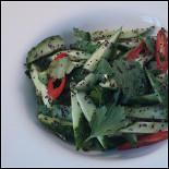 Ресторан Сезоны - фотография 5 - Салат из свежих огурцов с маком в кафе Сезоны
