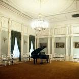 Ресторан Олимпия - фотография 2 - Один из самых красивых и больших залов особняка, который может принять торжество от 20 до 80 персон.