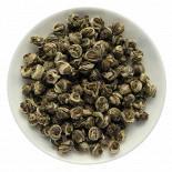 Ресторан Колобок - фотография 3 - Моли Сю Цю. Жасминовые скрученные шары.Зелёный чай ароматизированный натуральными цветами жасмина. Провинция Фуцзянь.
