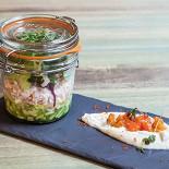 Ресторан Wine & Soul - фотография 1 - Тар-тар из лосося с воздушным кремом из сельдерея