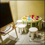 Ресторан Сухой закон - фотография 5 - Нижний зал, детский уголок