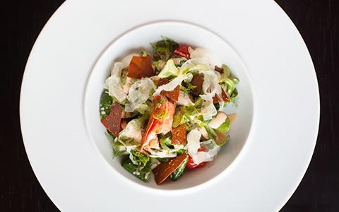 Лук-севок, крабовый кекс и другие интересные вещи на тарелках «Оранж 3»