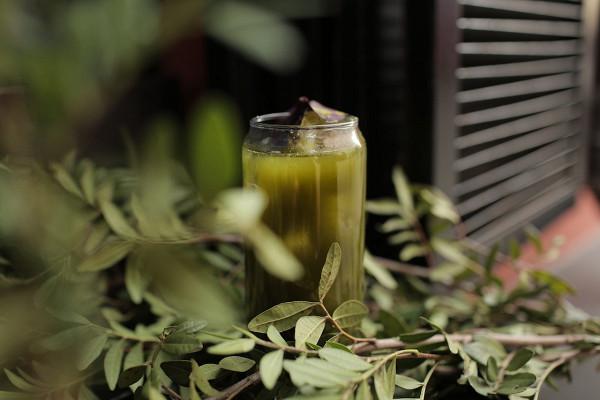 лимонад с щавелем, маття и лимонным фрешем (380 р.)