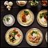 Ресторан What a Pita - фотография 2 - Хумус с разными начинками: сальса, баклажан, шампиньоны, фалафель