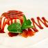 Ресторан Монтероссо - фотография 3 -  Панакота Легкий Итальянский сливочно — ванильный мусс с соусом из лесных ягод и веточкой свежей мяты.