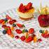 Ресторан G.Graf - фотография 15 - Сырный пирог с золотистой глазурью, сорбет из клюквы и соус из облепихи
