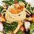 """Ресторан Де Марко - фотография 47 - Лингвини с осьминогом и лисичками в соусе """"Шабли"""", молодым шпинатом и помидорами черри."""