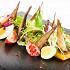 Ресторан Рассольников - фотография 11 - Шпроты на иной лад с картофелем, помидорами и яйцом