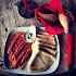 Ресторан Букинист - фотография 7 - Тонкие блинчики с малосоленой семгой. Восторг!