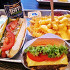 Ресторан Shake Shack - фотография 1 - Рутбир, гамбургер, картофель с сырным соусом, хот-дог