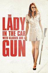 Постер Дама в очках и с ружьем в автомобиле