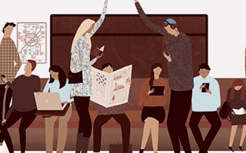 Чем занимаются пассажиры метро