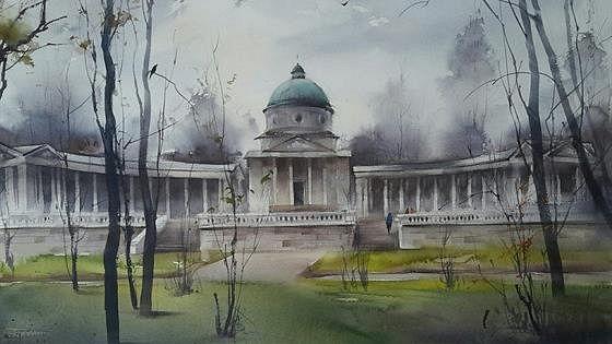 Ольга Шаклеина и Илья Ибряев. Усадьба Архангельское в акварели
