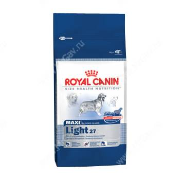 Корм royal canin maxi light 27