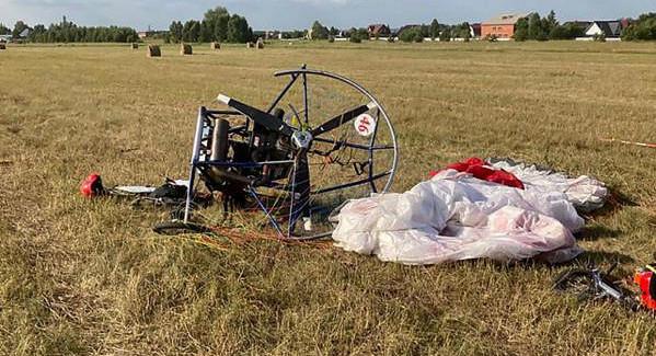 Вовремя соревнований подНовосибирском паралет совершил жесткую посадку