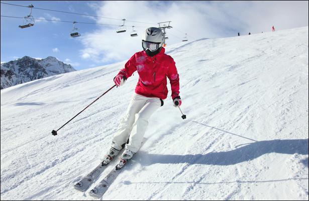 Треть горнолыжников предпочитают спокойные трассы