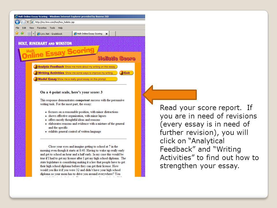 Write my holt essay online scoring