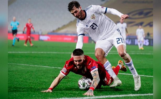 Россия уступила Сербии вматче Лиги наций
