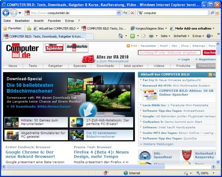 Internet Explorer - Free download and software reviews