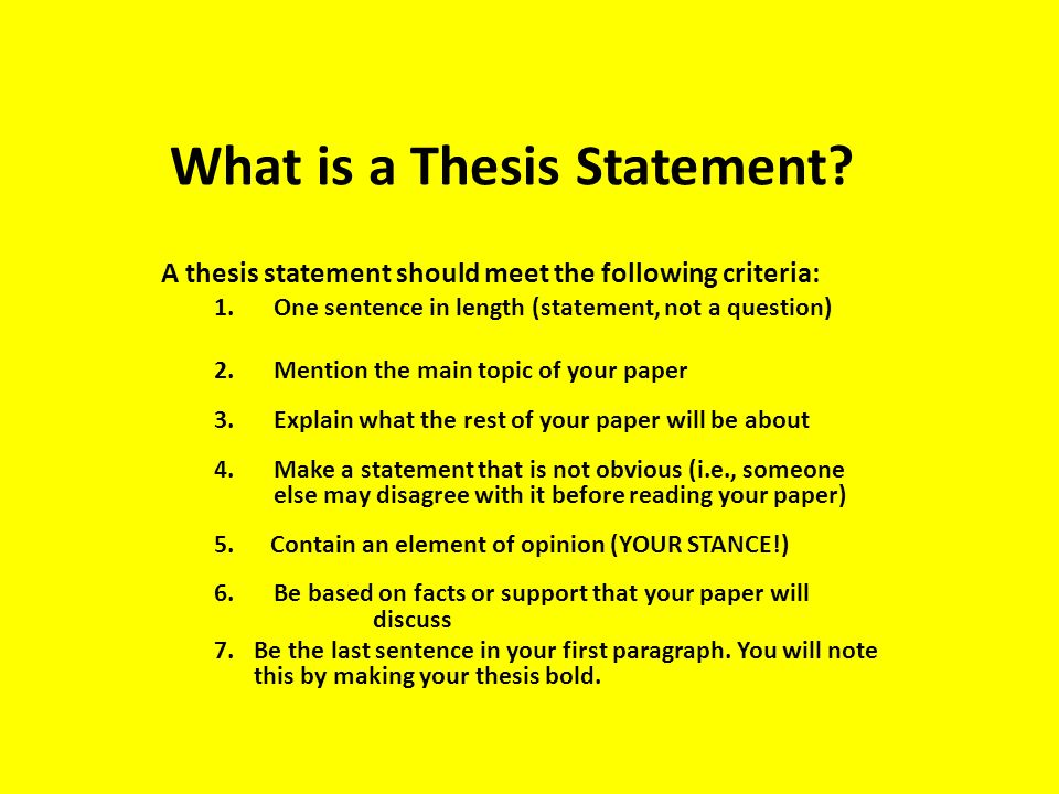 Thesis Statement Creator: - McGarvey Online