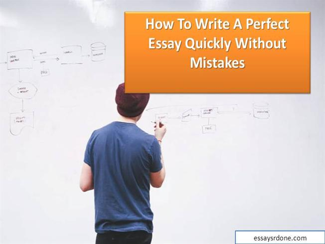 Write the perfect essay