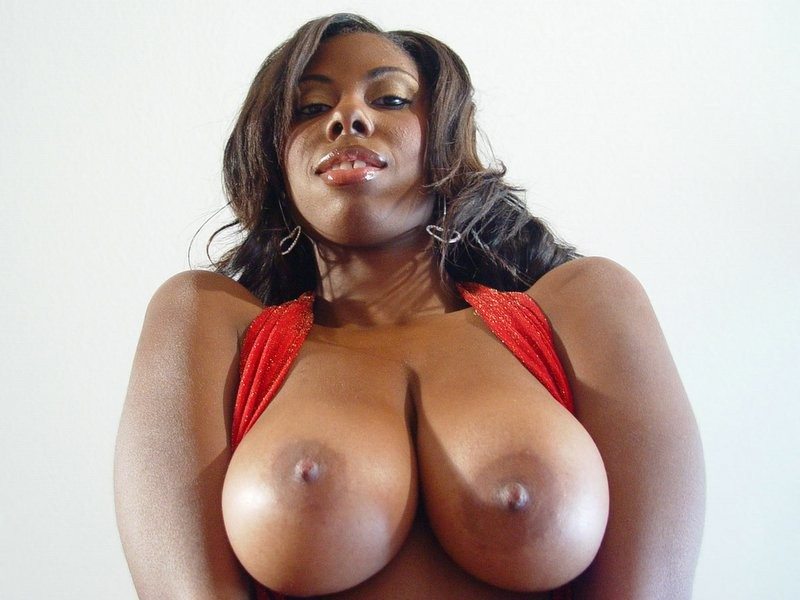 Ebony girl giving blow job