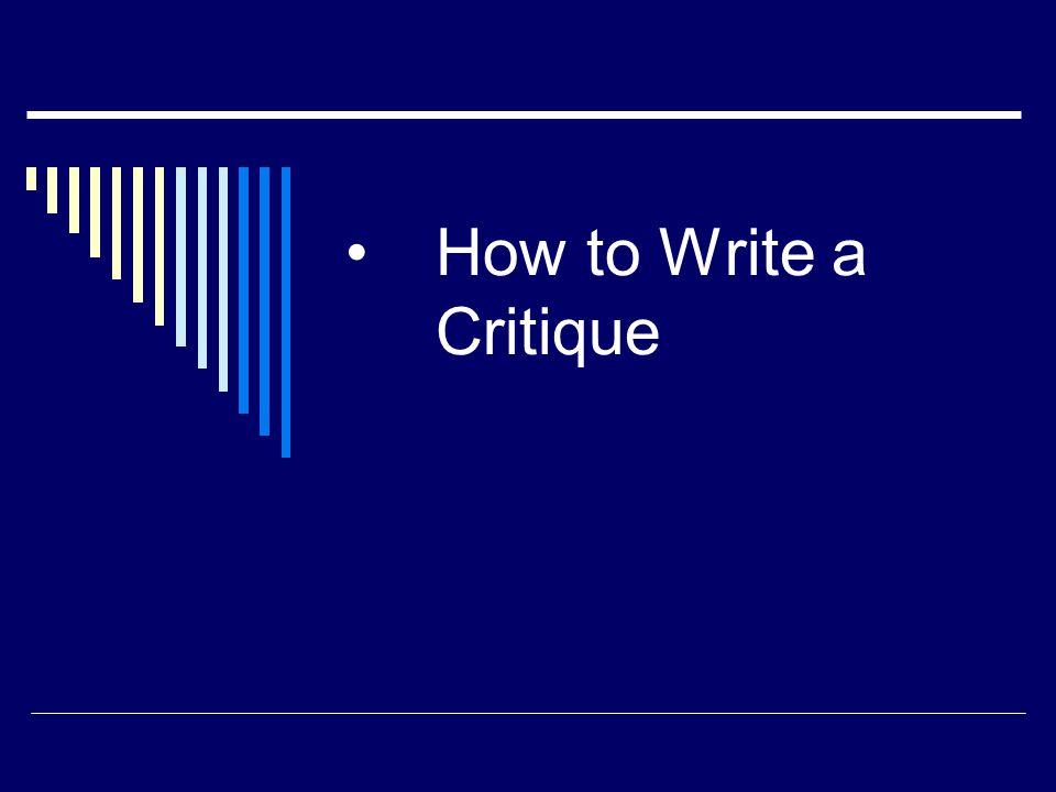 Write my critique paper
