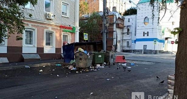 Нижегородцы пожаловались наужасное состояние мусорной площадки наулице Фрунзе