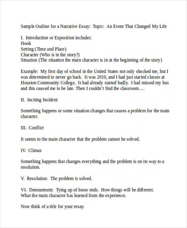Write my narrative essay examples samples