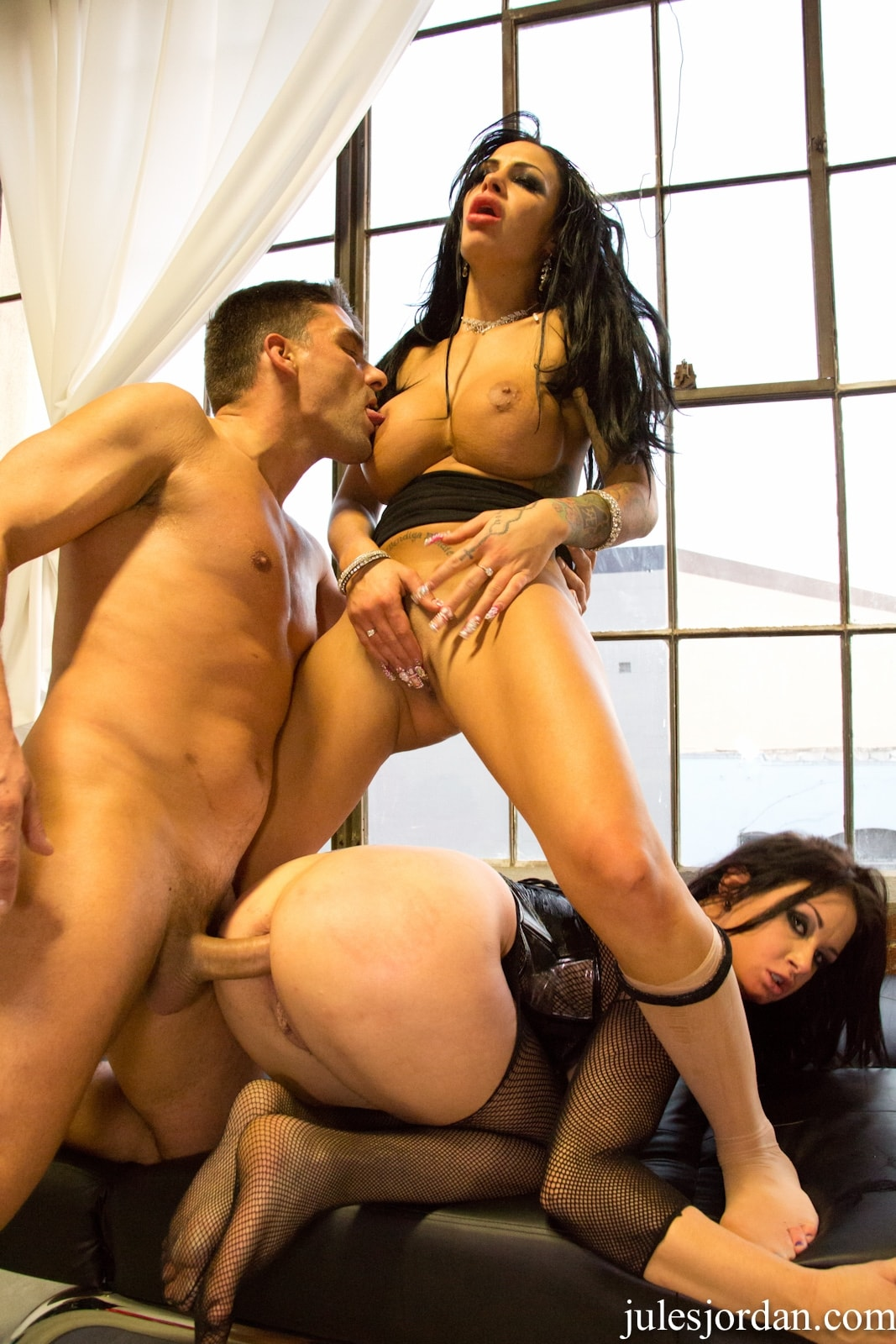 Teen girl pounded by big black