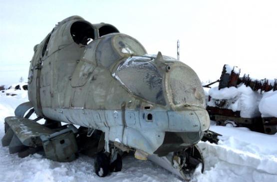 ВНовый Уренгой доставили раритетный МИ-24