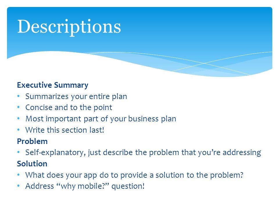 Writing the executive summary - LinkedIn